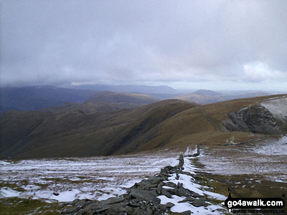 Knott & Rest Dodd from the Straits of Riggindale. Walk route map c114 High Street from Mardale Head photo