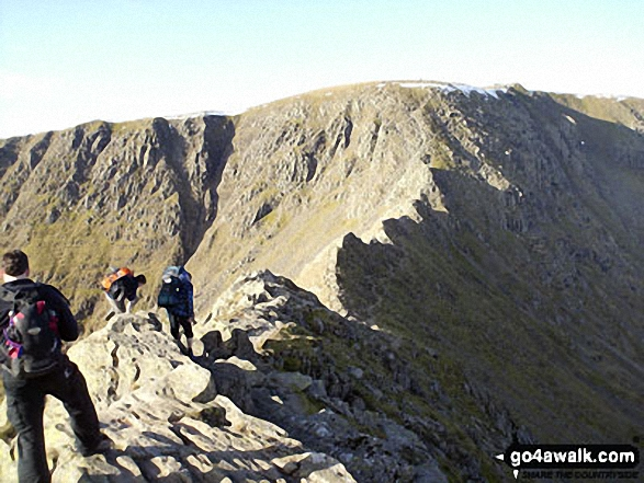 Striding Edge with Helvellyn beyond