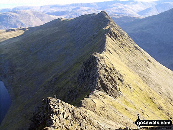 Looking down to Striding Edge from Helvellyn