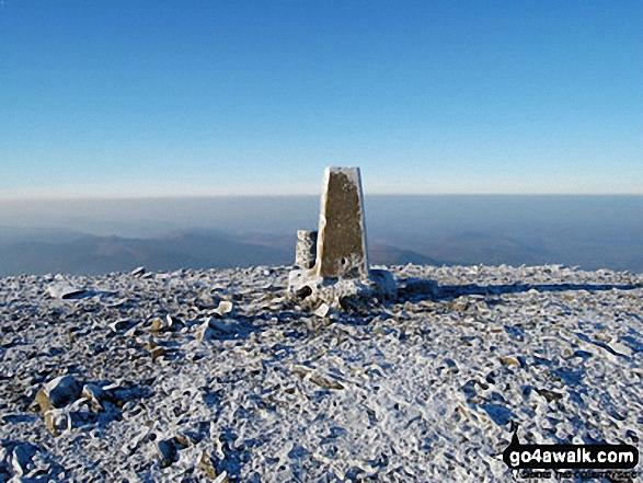 The summit of Skiddaw. Walk route map c236 Skiddaw from Millbeck, nr Keswick photo