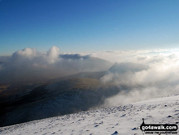 Looking East to Belncathra from the summit of Skiddaw