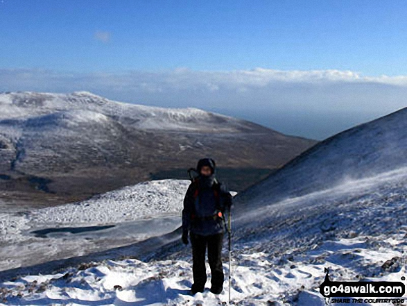 On Slieve Donard (Sliabh Donairt) in the snow