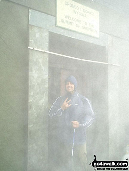 Me - in gangsta pose! on Snowdon walk Snowdonia Gwynedd Wales walks