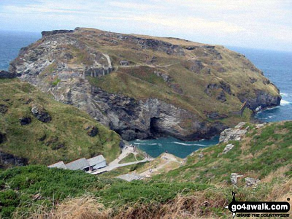Walk co181 Rocky Valley and Tintagel Castle from Tintagel - Tintagel Head from near Merlin Caves