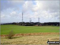 Walk route map me100 Billinge Hill from Billinge, Wigan Billinge, Billinge Hill, Beacon Farm, Brownlow, Billinge Hall Farm, Red Barn Farm, Great Houghwood Farm, Billinge The South Pennines and The Forest of Bowland,   Merseyside,  England