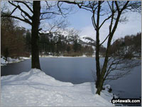 Yew Tree Tarn near Tarn Hows in Snow