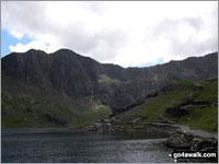 Walk Y Lliwedd (East Top) walking UK Mountains in The Snowdon Area Snowdonia National Park Gwynedd    Wales