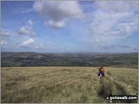 Ascending Bull Hill - one of The Best 17 Walks in The Forest of Bowland and The South Pennines
