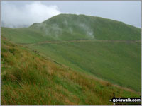 Walk Mynydd Rhyd-galed walking UK Mountains in The Cadair Idris Area Snowdonia National Park Gwynedd    Wales