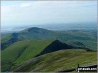 Walk route map gw158 Snowdon, Moel Cynghorion, Foel Gron and Moel Eilio from Llanberis Snowdon Mountain Railway Llanberis Station, Cader Ellyll, Llanberis Path, Halfway Station, Llechlog, Clogwyn Station, Garnedd Ugain (Crib y Ddysgl), Bwlch Glas, Snowdon (Yr Wyddfa), Clogwyn Du'r Arddu Path, Snowdon Ranger Path, Moel Cynghorion, Bwlch Maesgwm, Foel Goch (Snowdon), Foel Gron, Moel Eilio (Llanberis), Llanberis The Snowdon Area,  Snowdonia National Park,  Gwynedd,  Wales