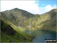 Walk Craig Cwm Amarch in  The Cadair Idris Area  of Snowdonia National Park, Gwynedd, Wales