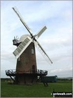 Walk route map wi102 Wilton Windmill from Great Bedwyn Great Bedwyn, Kennet and Avon Canal, Castle Copse, Bedwyn Brail, Wilton Windmill, Crofton Crossing, Kennet and Avon Canal, Great Bedwyn   Wiltshire,  England