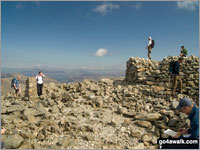 The summit of Scafell Pike, England's Highest 'Nuttall'
