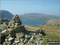 Walk Rannerdale Knotts walking UK Mountains in The North Western Fells The Lake District National Park Cumbria    England