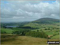 Walk Longlands Fell in  The Northern Fells  of The Lake District National Park, Cumbria, England