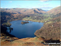 Walk Loughrigg Fell in  The Central Fells  of The Lake District National Park, Cumbria, England