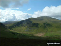 Walk Bakestall in  The Northern Fells  of The Lake District National Park, Cumbria, England