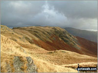 Walk Calf Crag in  The Central Fells  of The Lake District National Park, Cumbria, England