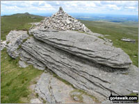 The summit of High Willhays  the highest point in Dartmoor National Park Photo: David Rodgers