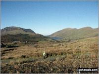Walk route map gw140 Snowdon via The Rhyd Ddu Path Rhyd Ddu, The Rhyd Ddu Path, Pen Ar Lon, Llechog, Bwlch Main, Snowdon (Yr Wyddfa), Bwlch Main, Llechog, Pen Ar Lon, The Rhyd Ddu Path, Rhyd Ddu, The Snowdon Area,  Snowdonia National Park,  Gwynedd,  Wales