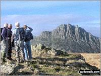 Walk Y Foel Goch walking UK Mountains in The Glyders (or Glyderau) Area Snowdonia National Park Conwy    Wales