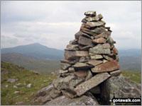 Walk Ysgafell Wen (North Top) walking UK Mountains in The Molewyns Area Snowdonia National Park Conwy Gwynedd   Wales