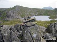 Walk Ysgafell Wen (Far North Top) walking UK Mountains in The Molewyns Area Snowdonia National Park Conwy Gwynedd   Wales
