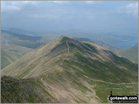 Walk Catstye Cam in  The Eastern Fells  of The Lake District National Park, Cumbria, England