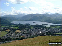 Walk Latrigg in  The Northern Fells  of The Lake District National Park, Cumbria, England