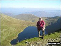 Walk route map c192 Helvellyn Ridge from Glenridding Glenridding, Glenridding Dodd, Sheffield Pike, Green Side, Stybarrow Dodd, Sticks Pass, Raise (Helvellyn), White Side, Lower Man (Helvellyn), Helvellyn, Nethermost Pike, High Crag (Helvellyn), Dollywaggon Pike, Grisdale Tarn, Grisedale Beck, Brownend Plantation, Lanty's Tarn, Keldas, Glenridding The Eastern Fells,  The Lake District National Park,  Cumbria,  England