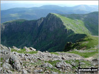 Craig Cwm Amarch from Cadair Idris - one of The Best 28 Ridge Walks in Wales
