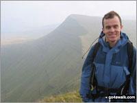 Walk route map po100 Pen y Fan from Neuadd Reservoir Lower Neuadd Reservoir, Bwlch ar y Fan, Cribyn, Pen y Fan, (Penyfan), Corn Du, Craig Gwaum-taf, Graig Fan Ddu, Lower Neuadd Reservoir The Brecon Beacons Area,  The Brecon Beacons National Park,  Powys,  Wales