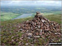 Walk Fan Gyhirych walking UK Mountains in The Brecon Beacons Area The Brecon Beacons National Park Powys    Wales