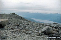 The summit of Ben Nevis  the highest point in Fort William and Loch Linnhe to Loch Ericht Photo: John Reed