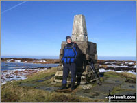 Walks from Wooler - On the summit of The Cheviot