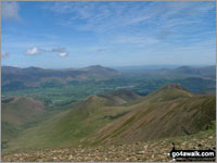 Walk Barrow (Newlands) in  The North Western Fells  of The Lake District National Park, Cumbria, England