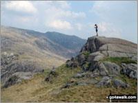 Walk Craig Fach walking UK Mountains in The Snowdon Area Snowdonia National Park Gwynedd    Wales