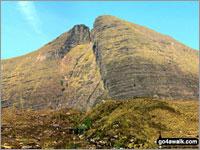 Walk Sgurr Mhor (Beinn Alligin) walking UK Mountains in The Achnashellach and Torridon Hills  Highland    Scotland