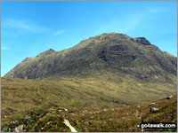 Walk Beinn Dearg (Torridon) walking UK Mountains in The Achnashellach and Torridon Hills  Highland    Scotland