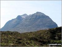 Walk Stuc a' Choire Dhuibh Bhig (Spidean a'Choire Leith (Laithach) walking UK Mountains in The Achnashellach and Torridon Hills  Highland    Scotland