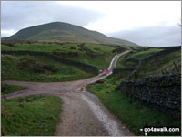 Walk Roman Fell walking UK Mountains in The North Pennines  Cumbria    England