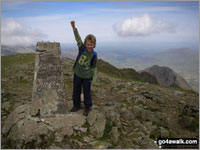 Walk Garnedd Ugain (Crib y Ddysgl) walking UK Mountains in The Snowdon Area Snowdonia National Park Gwynedd    Wales