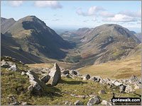 Walk Brandreth walking UK Mountains in The Western Fells The Lake District National Park Cumbria    England