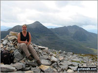 Walk Ruadh-stac Mor (Beinn Eighe) walking UK Mountains in The Achnashellach and Torridon Hills  Highland    Scotland