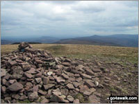 Walk Pen y Gadair Fawr walking UK Mountains in The Black Mountains The Brecon Beacons National Park Powys    Wales