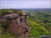 Walk The Cloud (Bosley Cloud) walking UK Mountains in   Cheshire Staffordshire   England