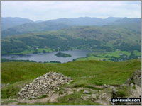 Walk Nab Scar in  The Eastern Fells  of The Lake District National Park, Cumbria, England