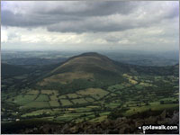 Walk Mynydd Troed walking UK Mountains in The Black Mountains The Brecon Beacons National Park Powys    Wales