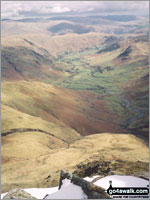Walk Bow Fell (Bowfell) in  The Southern Fells  of The Lake District National Park, Cumbria, England