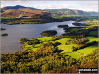 Walk Walla Crag in  The Central Fells  of The Lake District National Park, Cumbria, England
